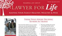 Lawyer for Life - 3rd Quarter 2014