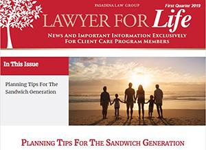 Estate Planning 1st Quarter 2019 Newsletter cover